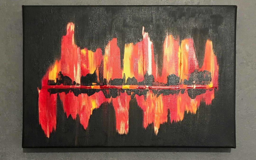 Skyline on Fire (30×40)