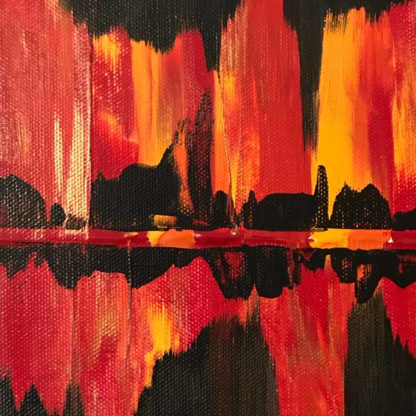 Abstract Skyline on Fire