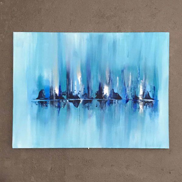 Abstract Skyline on Ice (30×40)