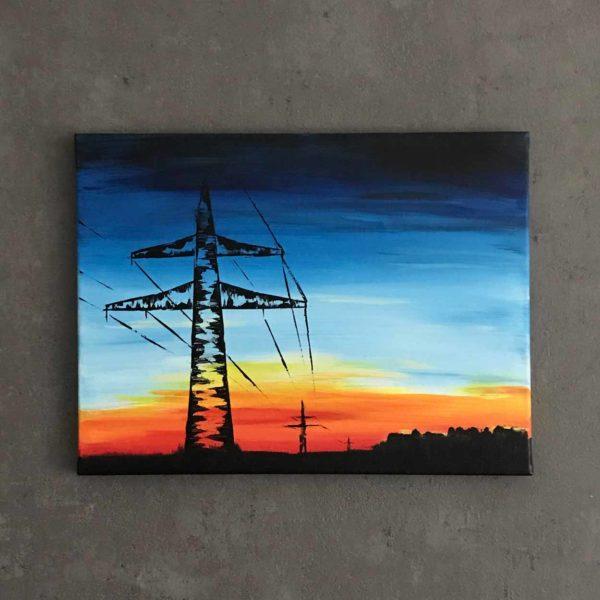 Power Poles in Dawn